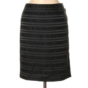 W by Worth Black Textured Pencil Skirt 10